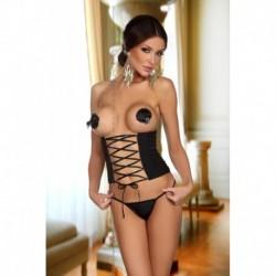 Gisele corset NEGRO