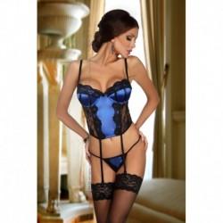 Abigail corset black/blue