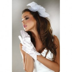 WHITE SATIN GLOVES – MODEL 2