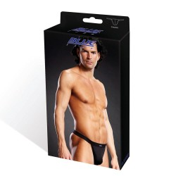 BLUE LINE Performance Microfiber Thong BLACK
