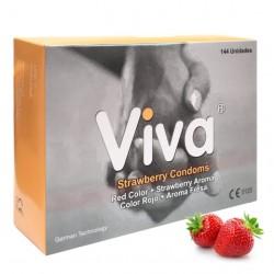 .VIVA CONDOMS STRAWBERRY - BOX OF 144