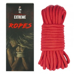 BONDAGE COTTON ROPE 10M – RED