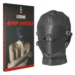 Fetish Black Hood - Abnehmbare Augen und Mund mit Knebel