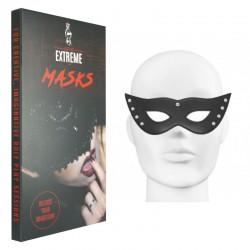 Máscara Negra en Cuero con Clavos