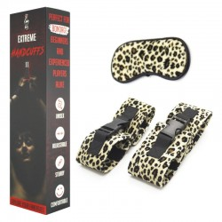Leopard Set - Handcuffs and Blindfold