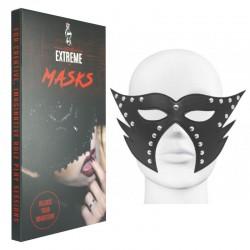 Máscara Cuero Catwoman - Negra