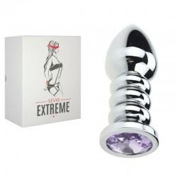 SEVW Extreme BDSM - Anal-Plug-Gewinde mit Violettem Kristall