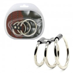 SEVW Extreme BDSM - Triple Steel Cock Ring