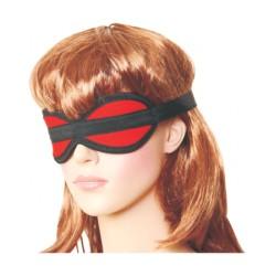 Rote Augenbinde aus Baumwolle
