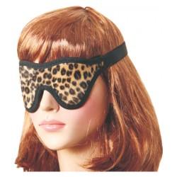 Leopardo algodón con los ojos vendados