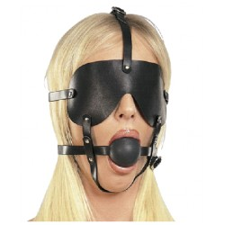 Ball Gag Harness with blindfold