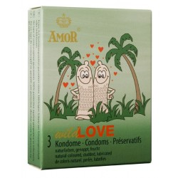 Amor Wild Love Condoms 3 pack