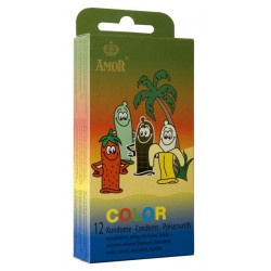 Amor Color Condoms 12 pack