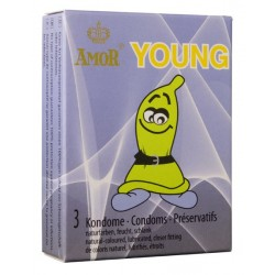 Préservatifs Amor Young Pack 3