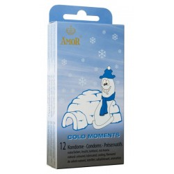 Condones Amor Cold Moments Pack 12