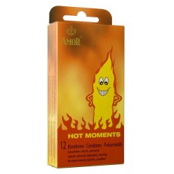 Préservatifs Amor Hot Moments Pack 12