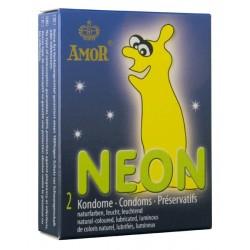 Condones Amor Neon Pack 2