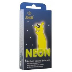 Condones Amor Neon Pack 6