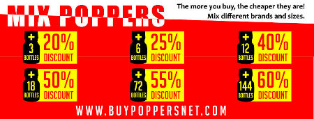 Popper discount up to 65%