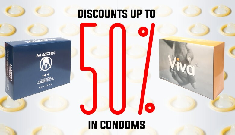 Natural latex condoms of the highest european quality