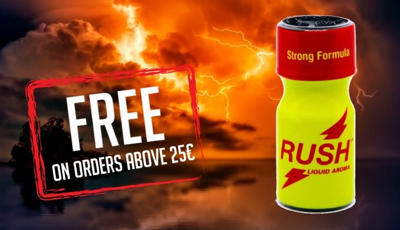 Free Gift Poppers Rush UK Strong Formula 10ml